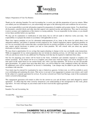 274339957 Tax Consulting Enement Letter Template on