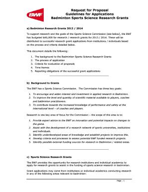contoh proposal badminton - Edit & Fill Out Top Online Forms