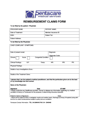 How To Fill Pentacare Medical Claim Form