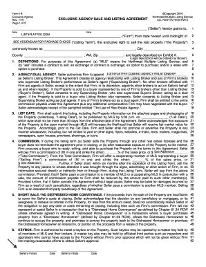 Listing Agreement And Instructions   List4FlatFee.com