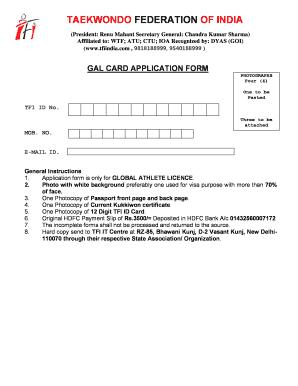 Tfi Gal Card - Fill Online, Printable, Fillable, Blank | PDFfiller