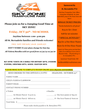 photo about Skyzone Printable Waiver identify sky zone selling prices - Edit, Print Down load Fillable Templates