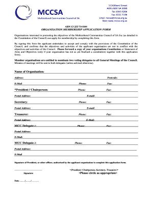 Editable membership application template - Fill Out & Print