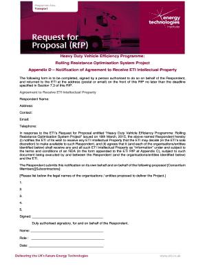 rfp response template word