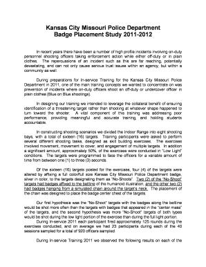 Fillable Online Kansas City Badge Placement Study Article Form Fax