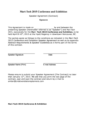Editable Contract Agreement Template Between Two Parties