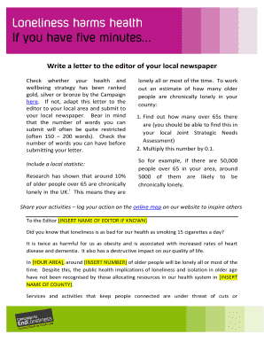 write a letter to the editor of a local newspaper