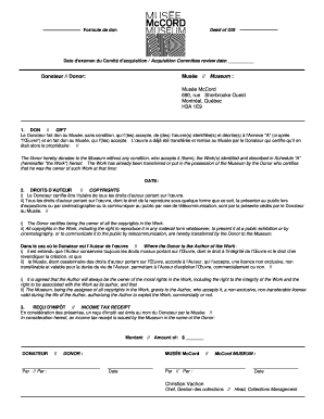 deed of gift form museum Templates - Fillable & Printable Samples ...