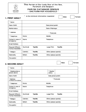 275371347 Order A Census Form on free blank,