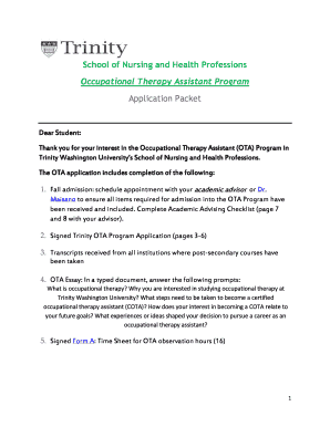 Recommendation letter for primary school admission forms and ota application trinity washington university trinitydc expocarfo Gallery