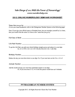 numerology name - Fill Out, Print & Download Online Forms