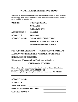 wells fargo routing number texas - Edit Online, Fill Out & Download on