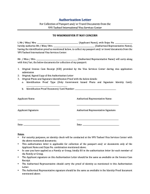 Authorisation letter to collect documents forms and templates vfs tasheel form spiritdancerdesigns Images