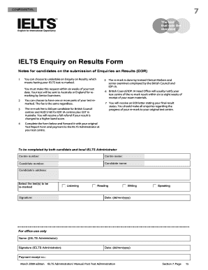 Enquiry on bResult Formb - IDP IELTS Turkey Fill Online, Printable