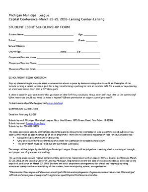 Student essay submission form - Michigan Municipal League - blogs mml