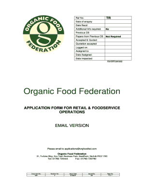 food quotation sample
