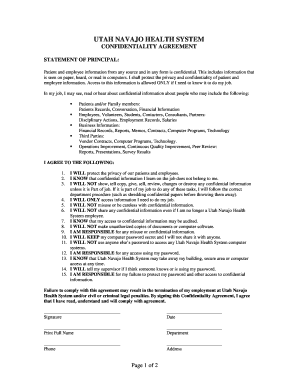hipaa confidentiality agreement form