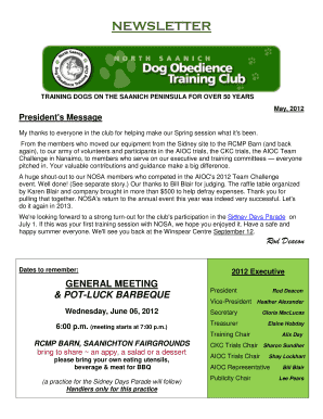 Rod Deacon - North Saanich Dog Obedience Training Club - nosa