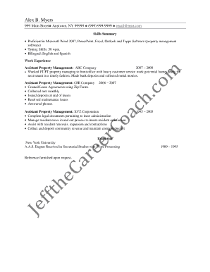 Office Administration Resume Sample Two - Jeff the Career Coach