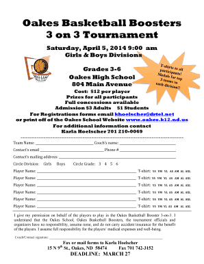 Oakes Basketball Boosters 3 on 3 Tournament Saturday, April 5 ... - oakes k12 nd