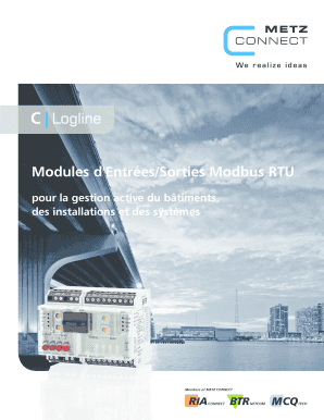 Modules dEntresSorties Modbus RTU - METZ CONNECT