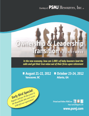 Ownership Leadership Transition - PSMJ Resources Inc