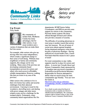 Seniors Safety and Security - nscommunitylinksca