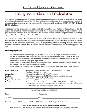 Using Your Financial Calculator - bValuepacificbbnetb
