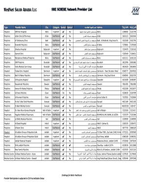 Acig Insurance Hospital List Jeddah Fill Online Printable Fillable Blank Pdffiller
