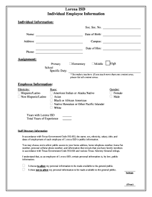 employee profile format download - Fill Out Online Forms