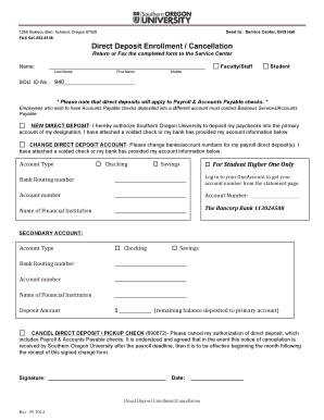 employee direct deposit enrollment form template - Edit Online ...