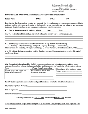 Editable sample patient encounter form - Fill Out, Print ...