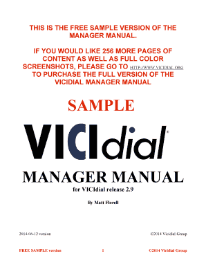 Agent Manual vicidial
