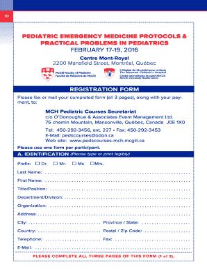 Fillable Online pedscourses-mch-mcgill Pediatric emergency medicine