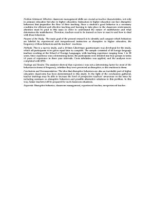 characteristics of classroom management pdf