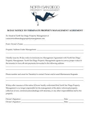Property Management Termination Letter from www.pdffiller.com