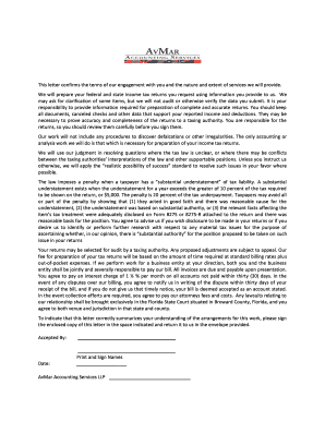 278830185 Tax Consulting Enement Letter Template on