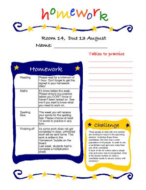 Fillable Online anzacterrace wa edu Room 14 Due 13 August - Anzac