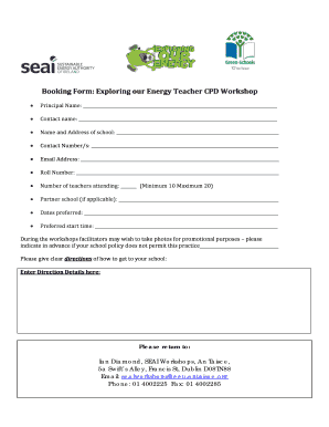 RE SEAI Exploring our Energy Teacher CPD Workshop