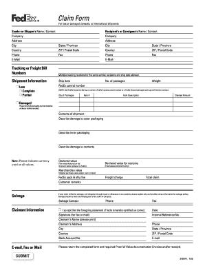 Editable fedex international customs form pdf fill out print fedex express claim form instructions and fedex express and fedex ground frequently asked questions faqs yadclub Gallery