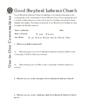 One-to-One Conversation Sheet Fill Online, Printable, Fillable