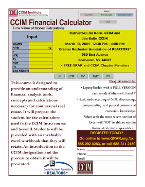 CCIM Financial Calculator - Commercial Real Estate Success