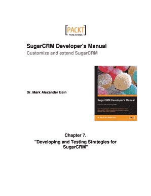 Sugar CRM Developer's Manual Sample Chapter Word Format