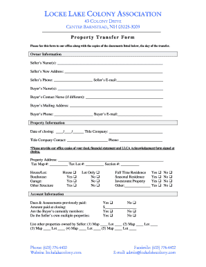Property Transfer Form1.doc. Sample Contract