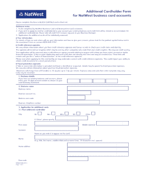 Natwest cardholder application form2 fill online printable natwest cardholder application form2 reheart Image collections
