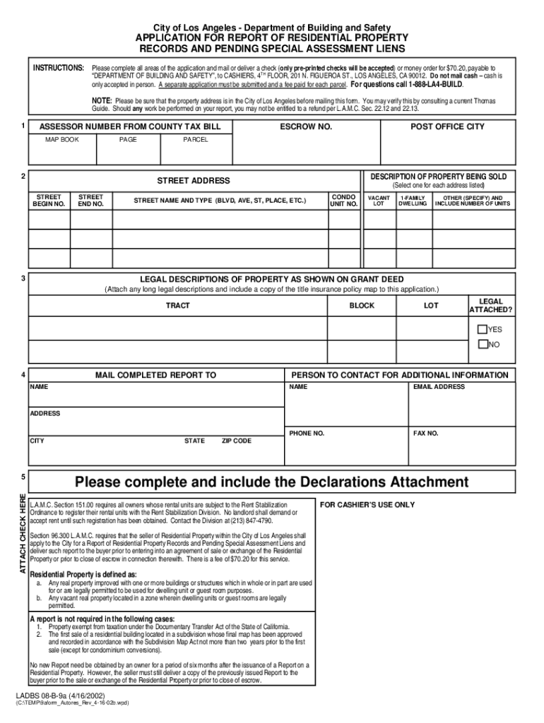 2002 2020 Form Ca Ladbs 08 B 9a Fill Online Printable Fillable Blank Pdffiller