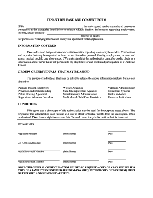Tenant Release Form - Fill Online, Printable, Fillable, Blank ...