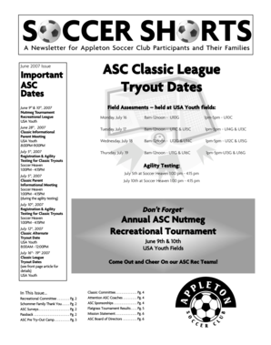 ASC Classic League Tryout Dates - Sport Ngin