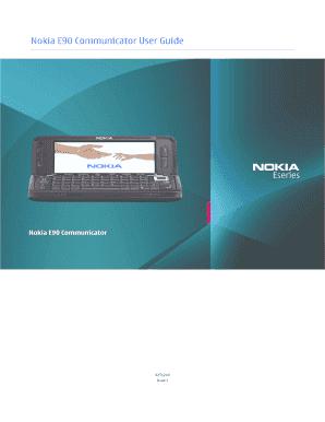 nokia e90 user guide pdf fill online printable fillable blank rh pdffiller com Nokia E71 Nokia E71