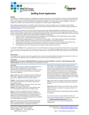 Staffing Grant Application Staffing Grant Application - Act On Energy
